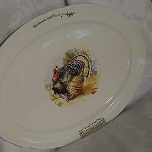 Badcock Advertising Accents - Vintage Badcock Advertising Small Turkey Platter